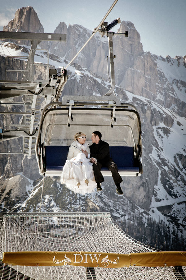 snow italy wedding