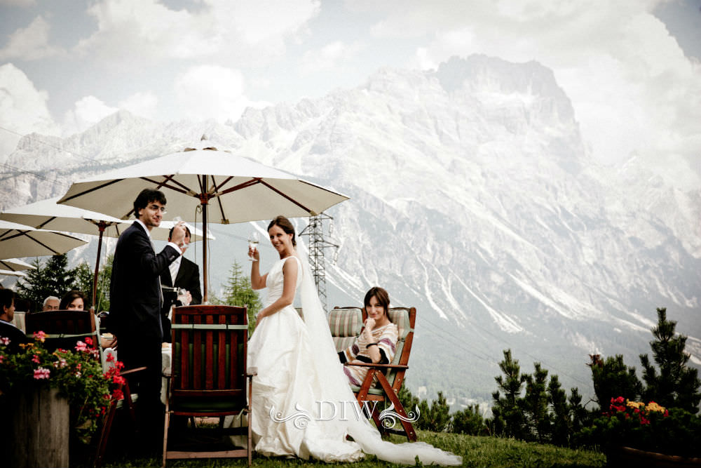 italy wedding reception in dolomites