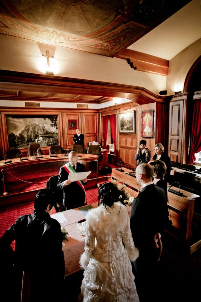 cortina d'ampezzo wedding ceremony