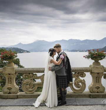 Lisa and JackLake Como wedding