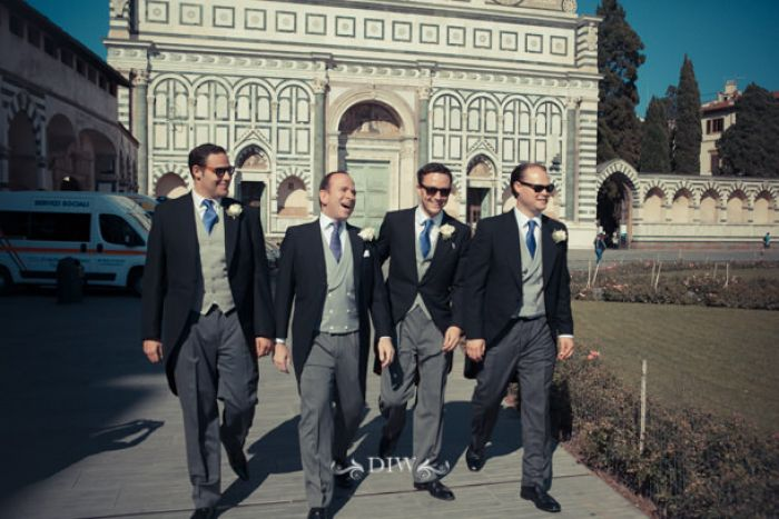 11 Florence wedding groomsmen