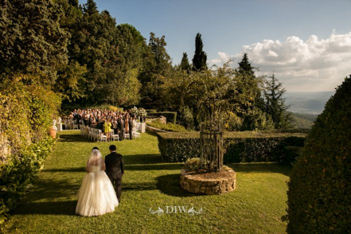 25 Fiesole wedding bridal procession