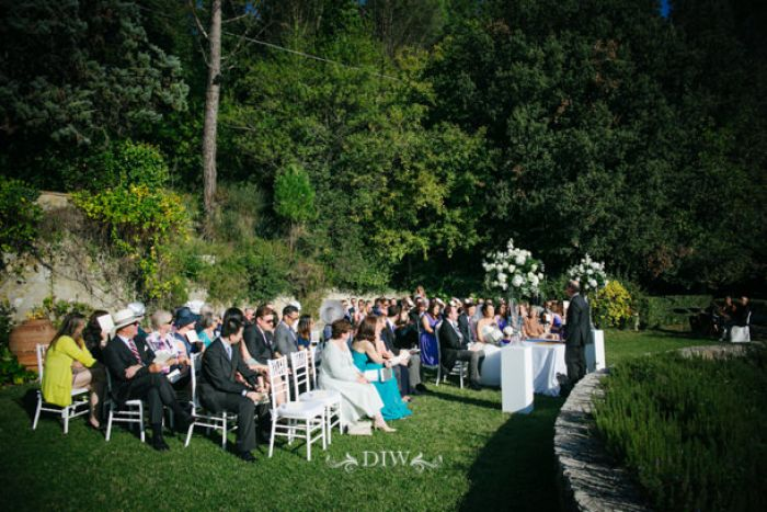 37 Tuscany wedding ceremony garden