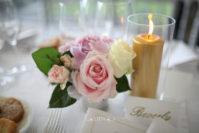62 Florence wedding reception candle