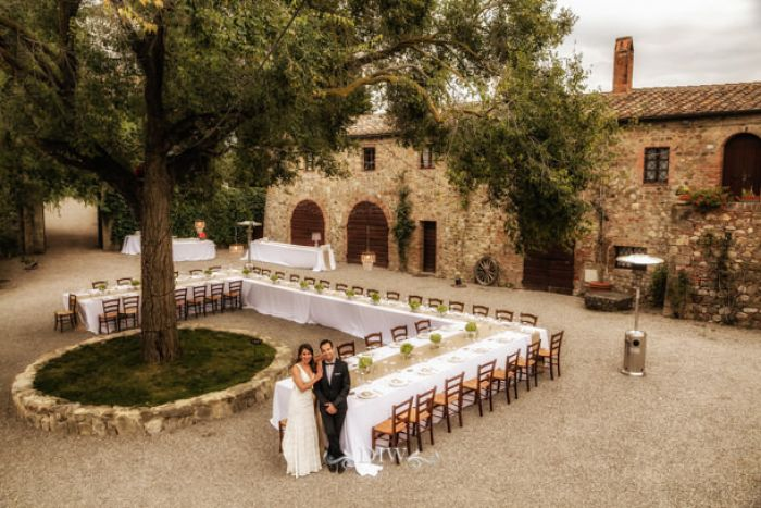 71 Tuscany wedding outdoor reception