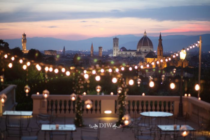77 Florence wedding city view