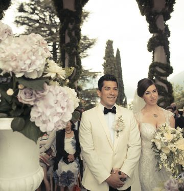 Lindsey and JoeVilla Balbianello, Lake Como Wedding