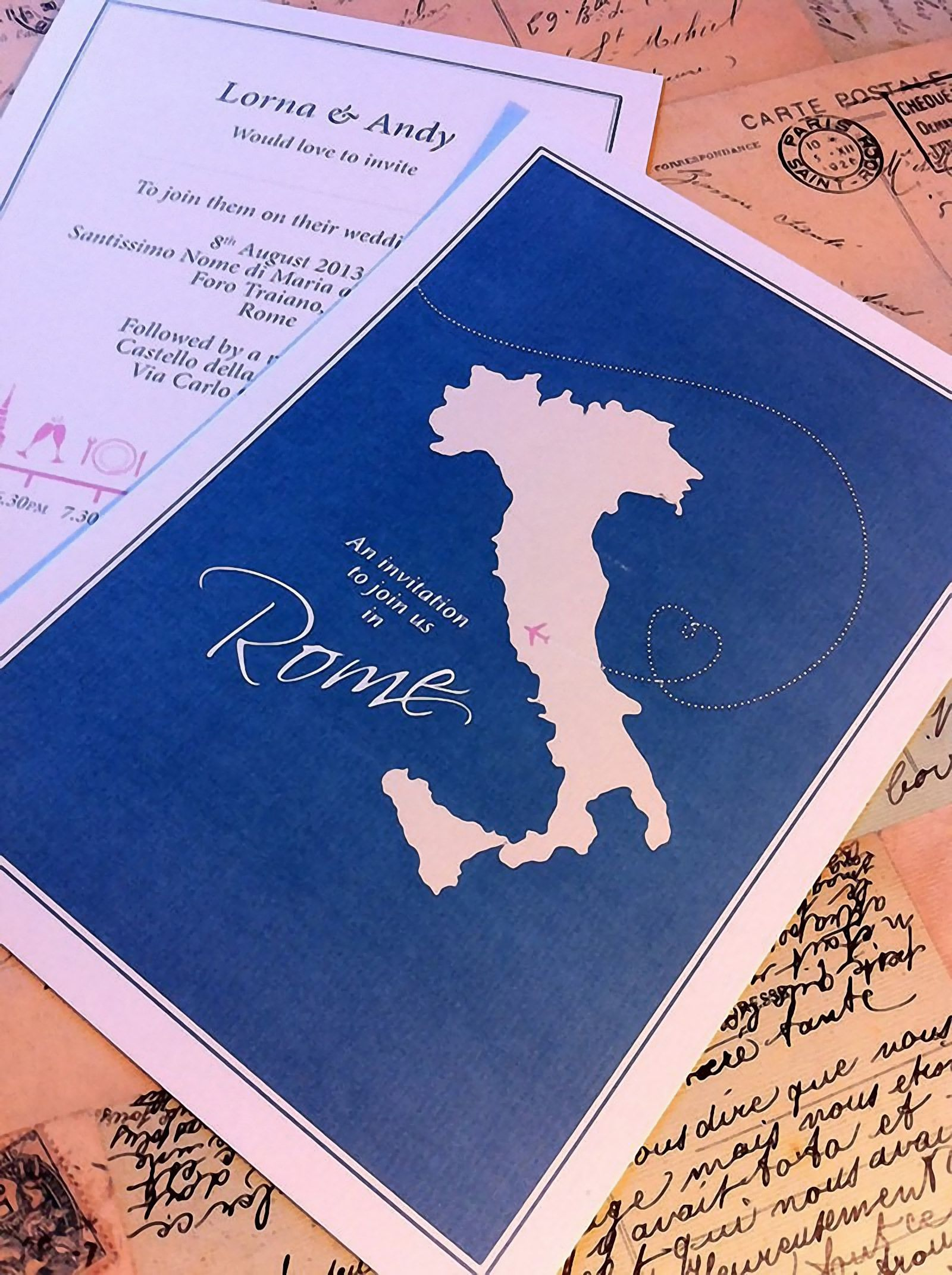 Italian Destination Wedding Stationary Ideas