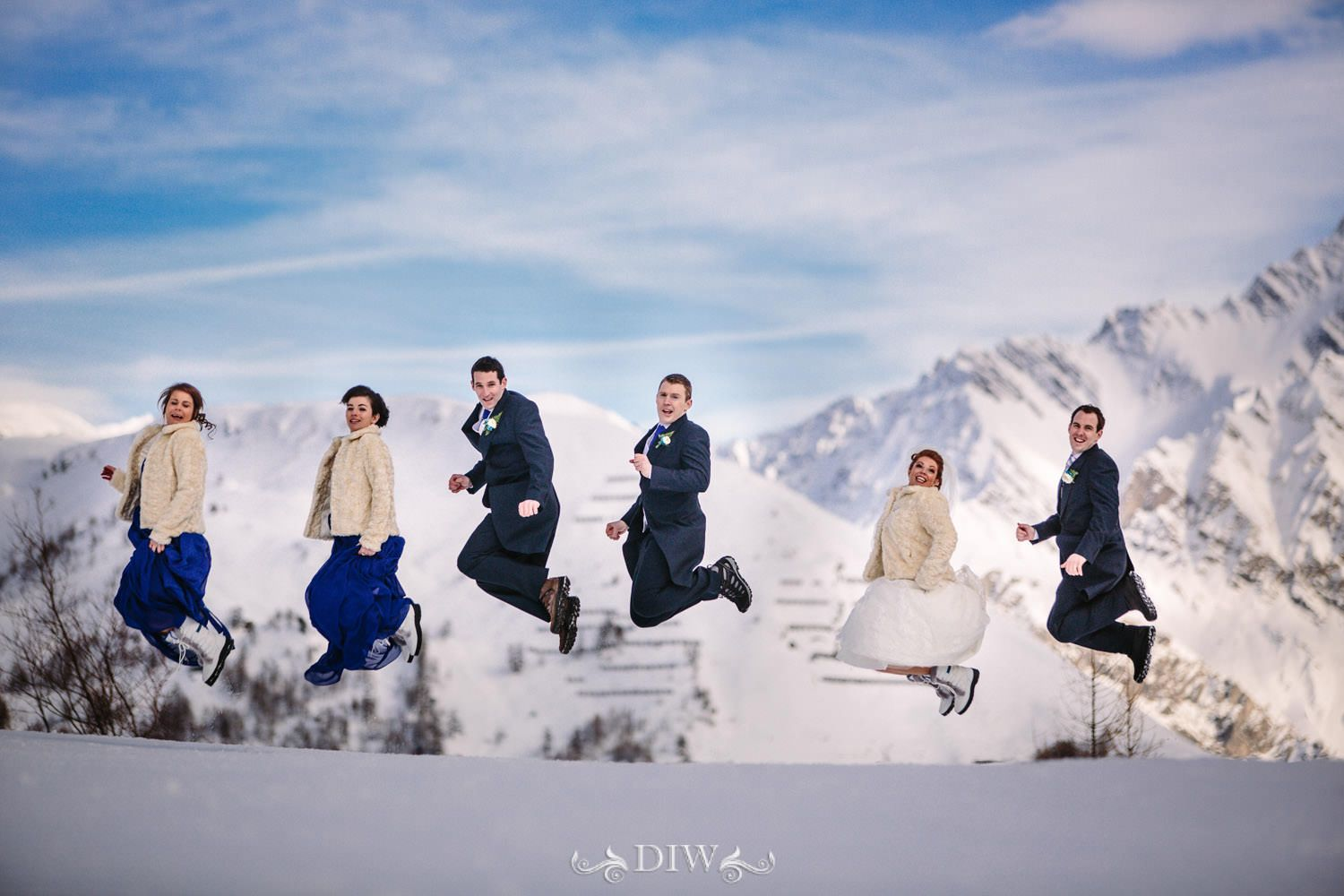 A snow wedding in Italy
